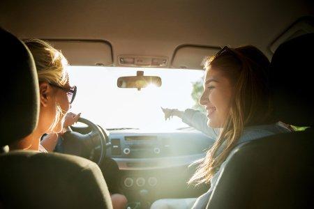 Girls in Car