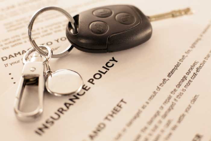 Insurance policy with car key