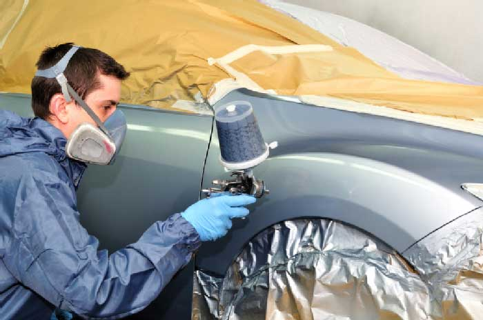 Collision repair after an accident