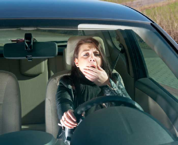Collision avoidance systems can let you know if your tiredness is causing drifting