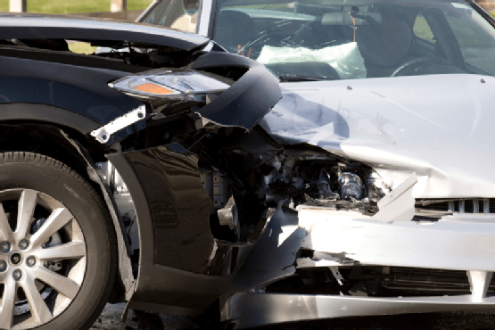 Two cars collided in an accident